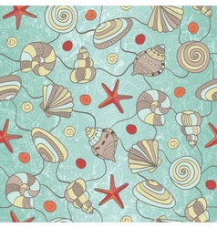 Shells and starfish vector image