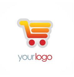 Shopping cart sale logo vector