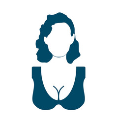 silhouette of a female face vector image