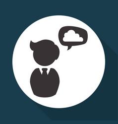 Social media design multimedia icon white vector