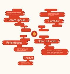 Speech bubbles infographics vector