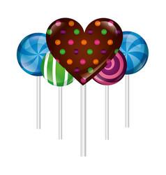 sweet lollipops isolated icon vector image