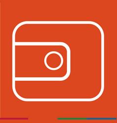 thin line purse icon design vector image