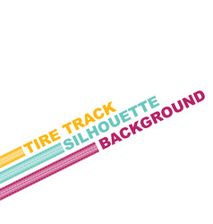 three color tire text vector image