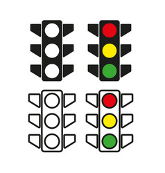 traffic light icon simple vector image