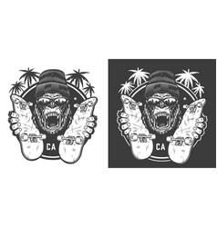 vintage skateboarding summer logotype vector image