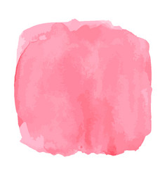 Watercolor brush square pink aquarelle abstract vector