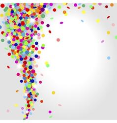Whirlwind confetti vector