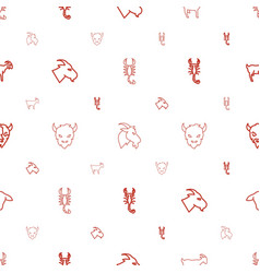 zodiac icons pattern seamless white background vector image