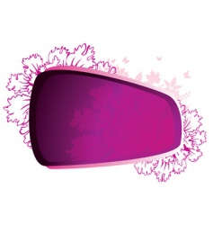 beauty flower pink vector image