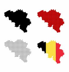 belgium map set vector image