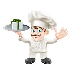 chef with present vector image vector image