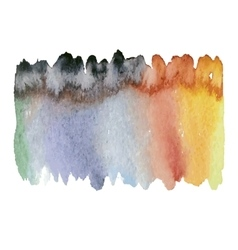 colorful watercolor wet vector image