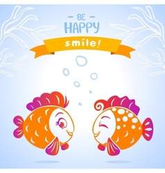 fish smile vector image vector image