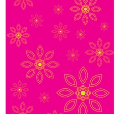 floral wallpaper vector image vector image