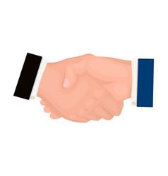 handshake e-commerce single icon in cartoon style vector image