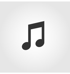 Music note icon flat design vector image vector image