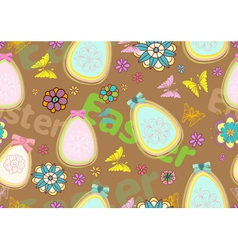 seamless floral Easter background vector image