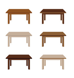 table wooden set vector image vector image