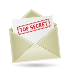 top secret envelope vector image vector image