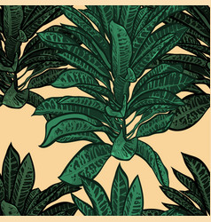 tropical leaves dense jungle seamless pattern vector image vector image