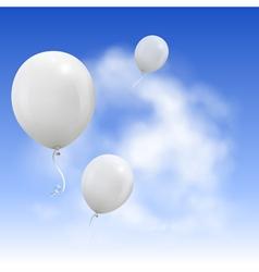White Balloons vector image