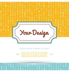 Your design vector image vector image