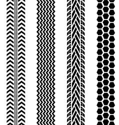 Black tire tracks set on white background vector image