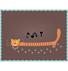 cat and three mouse vector image vector image
