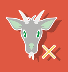 goat animal farm icon vector image