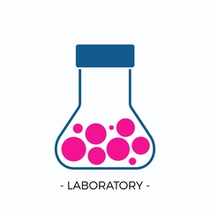logo for laboratory vector image