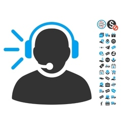 Operator Message Icon With Free Bonus vector image vector image