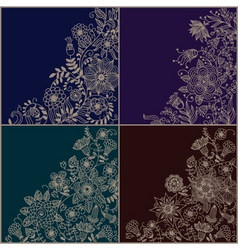 set of floral backgrounds vector image vector image