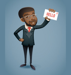 afro american african european businessman vector image