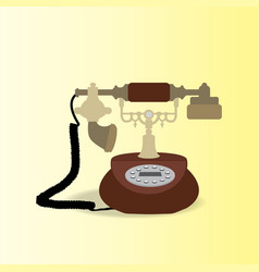 antique telephone vector image vector image