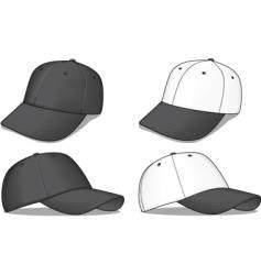 black baseball caps vector image