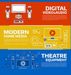 digital technology concept vector image