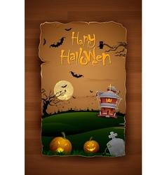 Haunted House in Halloween Night vector image vector image