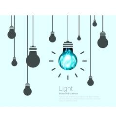 Light Bulbs Background Industrial Science Idea vector image vector image