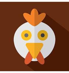 Modern Flat Design Chicken Icon vector image