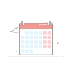 The concept of wall-calendar made in a linear vector image