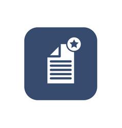 -create document- icon flat design vector image vector image