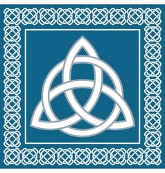 Ancient symbol triskel traditional celtic design vector image