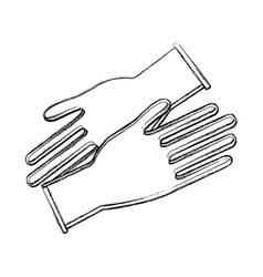 Contour medical latex gloves to protection hands vector
