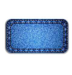 detailed blue jeans label vector image