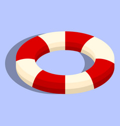 Isolated lifebuoy or swimming ring vector