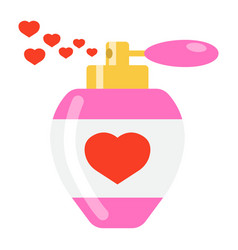 love perfume with hearts flat icon valentines day vector image vector image