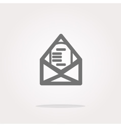 mail envelope icon web button isolated on vector image