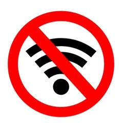 No signal sign no signal area vector image