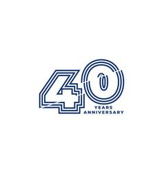 40 years anniversary template vector